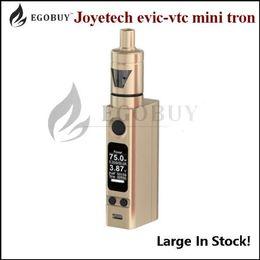 Wholesale 100 Original joyetech evic vtc mini tron s kit with tron s tank evic vtwo battery box mods vt box cubis atomizer authentic