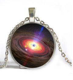 6 Style UNIVERSE Pendant Necklace Women Necklace ASTRONOMY JEWELRY Space Silver Art Gifts For Friend statement necklace
