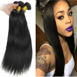 7A Brazilian straight virgin hair Unprocessed Human Hair 10-28 inch Brazilian Straight hair weave 4 Bundles deals