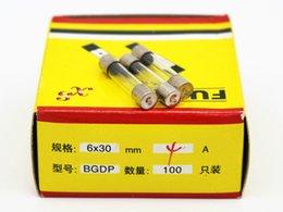 100pcs lot 4A 6*30MM Fuses Fast Quick Blow Glass Tube Fuse 6x30mm 250V 4A F4AL250V