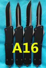 Wholesale HIght Recommend ZT microtech A16 a16 models optional Hunting Folding Pocket Knife Survival Knife Xmas gift fox copies freeshipping