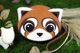 The raccoon coin bag Handbag DIY handmade non woven bag Handmade fabric Creative gifts