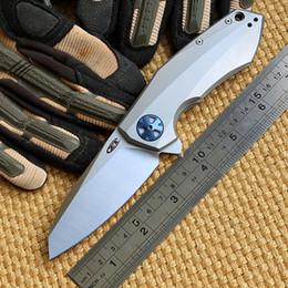 Green thorn Zero Tolerance 0456 ZT0456 Flipper folding knife bearing D2 blade Titanium handle outdoor camping hunting pocket knife EDC tools