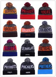 Wholesale 2017 New Season American Beanies All Football Teams Beanies Mens Sports Beanies Cheap Warm Women Knitted Hats