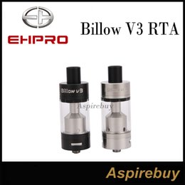 Billow rta en Ligne-100% le plus récent Ehpro Billow V3 RTA 4.6ML Atomizer EHpro Billow V3 RTA Tank 2 Post Velocity Style Deck 2 Cyclops de fond réglable Airflow