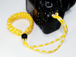 Outdoor life-saving rope adjustable woven camera wrist strap bracelet for Canon