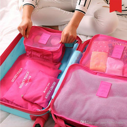 6 Pcs Brand Travel Storage Bag Set For Clothes Tidy Organizer Pouch Suitcase Home Closet Divider container Organiser
