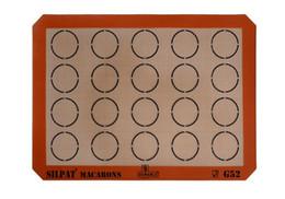 16.5x11.8inch SILPAT macaron mat macaroon rug 20 circles indents silicone glassfiber Macaron Baking Sheet