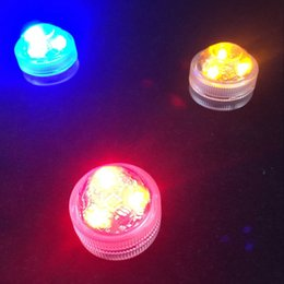 10pcs Lot Wedding Decoration Remote Controlled Waterproof Submersible 3 LED Mini Party Tea Light with Battery For Halloween Christmas