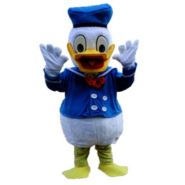 Wholesale 2015 Real Pictures Deluxe Donald Duck and Daisy Duck Mascot costume adult size mascots costumes halloween party supply Ems