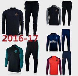 Wholesale Best quality barcelona PSG soccer tracksuit chandal football Tracksuit training suit skinny pants Sportswear best quality