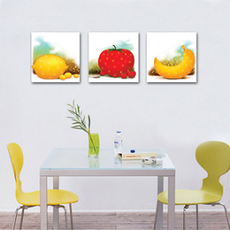 Wholesale unframed Pieces Canvas Prints Cartoon banana Tomatoes Fruits flower Chrysanthemum Abstract tree tulips Sculpture dove sea