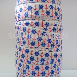 wholesale OEM 140704002 5 8inch 16mm Folded Over Elastic Ribbon Polyester FOE Webbing 50yds roll free shipping