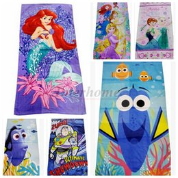 Wholesale Kids Mermaid Finding Nemo Beach Towel Finding Dory Mermaid Tail Bathing Towels Frozen Minnie Swim Towels Buzz Minion Bathroom Towels B430