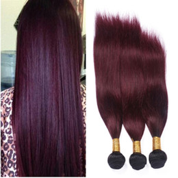 Hot Sale Wine Red Ombre Human Hair Bundles Dark Root Burgundy 1B 99J Hair Weaves Two Tone Hair Extensions 3Pcs Lot