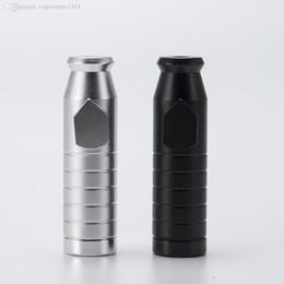 Acabado mate en Línea-DHL 2,3 pulgadas de barniz Bullet acabado mate contiene 3g Snuff Bullet Pipe Aluminio Metal Snuff Snorter regalo colorido portátil 142