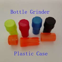 Wholesale Bottle Grinder Water Tight Air Tight Medical Grade Plastic Smell Proof Tobacco Herb plastic case layer Grinders several colors fashion
