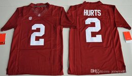 Wholesale Youth Alabama Crimson Tide Jalen Hurts College Football Limited Jerseys Red Size S XL