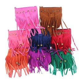 NEW Fashion Children Tassel bag Kid's Shoulder bag Girls Messenger Bags Vintage Tassels Bags Cross Body All-match Girl Handbag