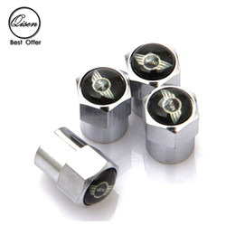 CHROME SILVER MINI WHEEL VALVE CAP TYRE TIRE STEM AIR Dust Proof CAPS for COOPER COUNTRYMAN auto accessories