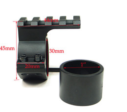 wholesale 10pcs lot 25.4mm 30mm Ring 20mm weaver Picatinny Barrel Mount rail Adapter For Rifle Scope flashlight(ht036)