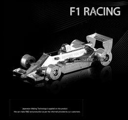 Wholesale Formula car f102 D puzzles nano metal model price Stainless steel DIY Creative gifts Chinese ICONX New styles