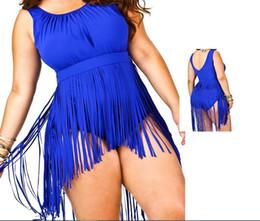 Wholesale Hot Fashion Swimsuit Plus Size Fringe Swimwear Women One Piece Tassel Swimsuit Sexy Bra Push Up Beach Underwear Halter Bathing Suits