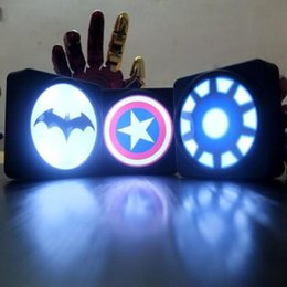 Wholesale New Super Cool Batman Captain America Shield lights travel charger power bank external battery For IOS Android Phones