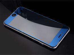 Plaque d'écran à vendre-Protecteur d'écran en verre trempé en verre trempé Plaque de couleur Miroir Membrane Proof 9H pour iphone7 7plus iPhone 6s 5s Front et BackF