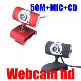 2017 computadoras portátiles para la venta 2016 nueva venta del envío de Negro USB / rojo 2,0 50.0m HD Webcam Cámara Web Cam con el micrófono MIC para PC portátil presupuesto computadoras portátiles para la venta