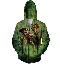 Wholesale Ed Edd n Eddy on Bath Salts zombie d hooded Harajuku coat zipper sweatshirt women men fashion outfit outerwear zip hoodie