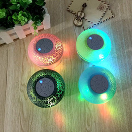 Wholesale LED Strong Suction Waterproof Speaker Wireless Shower Handsfree Bluetooth Speakers Car Waterproof Portable Mini MP3 Super Bass