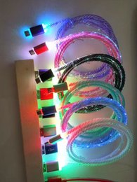 ZZYD Hot Sale LED Lighting Micro Cables Cord Data Sync Charging USB Cables For Android Mobile Samsung S8 Note4 Phone