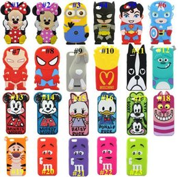 Wholesale Iphone D Cartoon Cases Superman Despicable Me Captain America Mickey Minnie Mouse Duck Batman Silicone Soft Case for Iphone S Plus