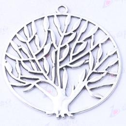 DIY tree round Pendant Fit Bracelets or Necklace Charms antique Silver bronze DIY Jewelry 30pcs lot 3140z