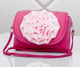11 color princess 3D flowers messenger bag child baby bags Three-dimensional large flowers Inclined shoulder bag little girl bags