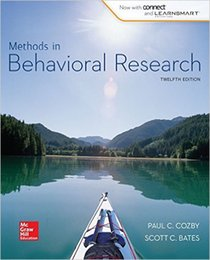 Wholesale Methods in Behavioral Research th Edition by Paul Cozby Author Scott Bates Author