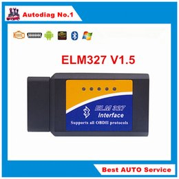 Wholesale Quality A ELM327 Bluetooth OBD2 OBDII V1 CAN BUS Auto Car Diagnostic Scanner ELM Work on Android Torque Free Ship