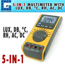 Wholesale GVA in Digital Double Insulation Auto Manual Ranges Multimeter Thermometer Lux Sound Hygrometer Meter
