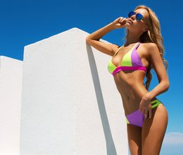 Bump the color CONTRAST COLOR fashion contrast color swimsuit women swimsuit women sexy bikini new swimwear swimsuit women sexy swimwe