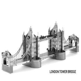Wholesale In business DIY London tower Bridge D three dimensional puzzle metal simulation model Metallic puzzle Metallic Nano Puzzle INBTG3P001