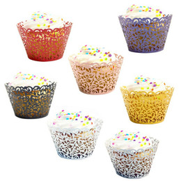 Wholesale Little Vine Lace Laser Cut Cupcake Wrapper Liner Baking Cup Wedding Birthday Tea Party Home Decoration Tools