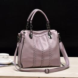 2017 chaîne grand sac Hot style coréen chaîne Crossbody de mode Sacs PU Sacs à main en cuir d'épaule pour les femmes grandes sacs fourre-tout promotion chaîne grand sac