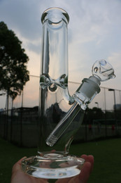 Super Heavy 9mm Glass Bong 12 inches Straight Ice thick elephant Joint waterpipe with 14 18 downstem 14mm bowl