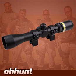 Wholesale AccuPoint Trijicon x40 Riflescope w BAC Green Optical Fiber Triangle Post Reticle inch Tube With Scope Rings