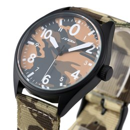 Wholesale Foreign trade explosion models New SINOBI Watch Men s Military camouflage simple atmospheric fashion leisure male table