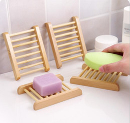 Wholesale Fashional Bathroom Soap Tray Handmade Soap Dish Wood Dish Box Wooden Soap Dishes As Holder Home Accessories