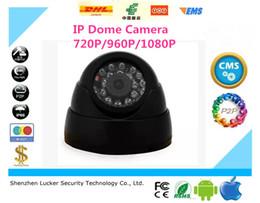 2017 dôme intérieur caméras ip LUCKER SECURITY 720P / 960P / 1080P 1.0 / 1.3 / 2.0 Mega Pixel 24PCS IR Leds ONVIF Intérieur IR-CUT Night VISION P2P IP Dome Camera Livraison gratuite dôme intérieur caméras ip promotion