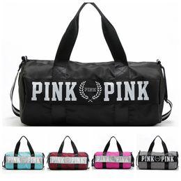 Wholesale Women Love Pink Handbags VS Brand Totes Fashion Travel Duffle Bags Striped Waterproof Bag Beach Shopping Bag Yoga Shoulder Bags New D11