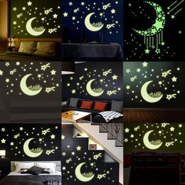 Wholesale Home Decal Glow In The Dark Bedroom Corridor Ceiling Wall Fluorescent Stickers